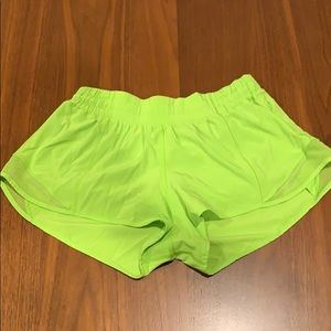 Lululemon hotty hot shorts neon lime green 8